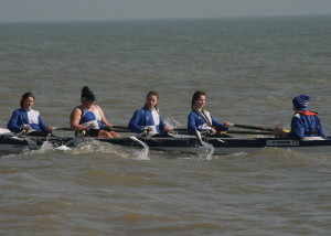 J16 Girls Winning Crew Megan Barter, Antonia Reed, Jodie Lott, Olivija Norvilaite coxed by Chris Hall