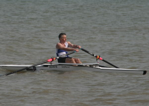 Novice Sculls Winner Paul Scrivener