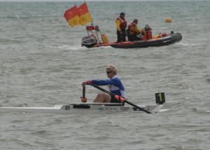 Jo Johnston winner of the Ladies Sculls
