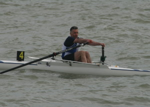 Paul Scrivener in the Novice Sculls