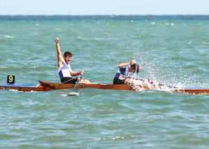 Robin and Christopher winning at Eastbourne Regatta 2016