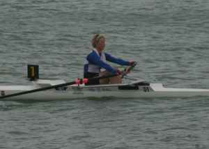 Jo Johnston 2nd place on both days in the Ladies Single Sculls