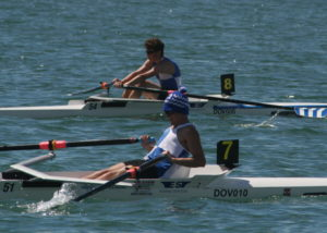 Tom Stothart and Cameron Mackintosh in the Novice Sculls