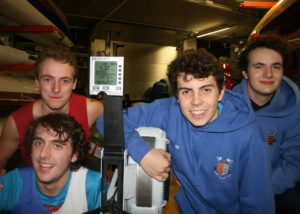 cameron-mackintosh-chris-hall-tom-stothart-and-austin-mills-with-the-rowing-machines-display-at-the-finish-of-their-challenge