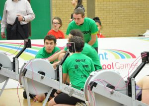 Tom Stothart, Cameron Mackintosh, Chris Hall and Austin Mills in the Kent School Games
