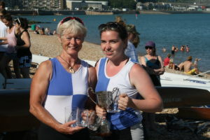 Ladies Double Sculls winners - Jo Johnston and Mary Newcombe